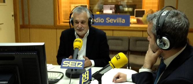 El presidente de la Junta de Andalucía, José Antonio Griñán, en la SER
