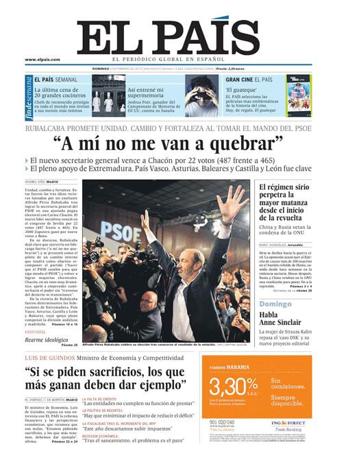 """FOTOGALERIA: 'El País': """"A mí no me van a quebrar"""""""