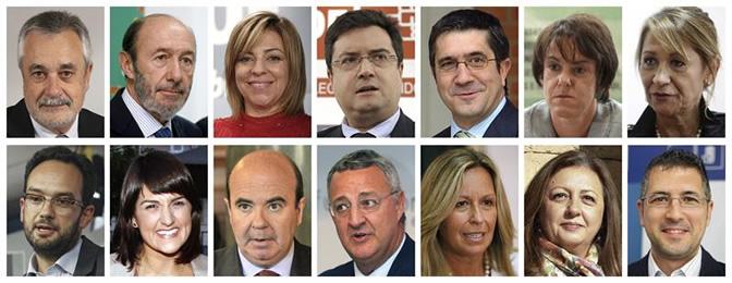 Combo fotográfico de la nueva Ejecutiva Federal del PSOE