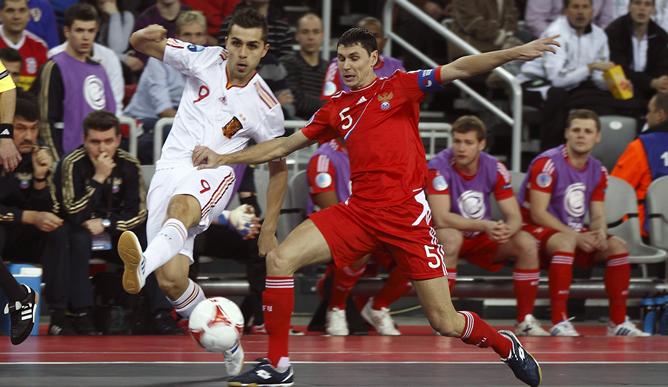 Espa a gana a rusia y se proclama campeona de europa de for Federacion espanola de futbol sala