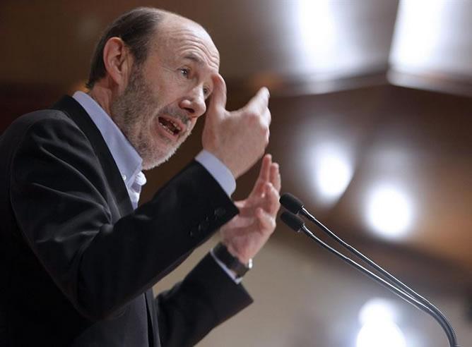 El secretario general del PSOE, Alfredo Pérez Rubalcaba (EFE)