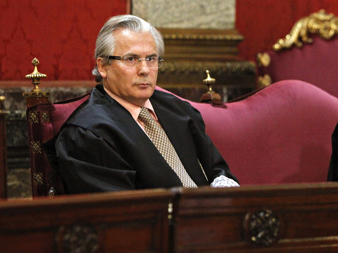 Baltasar Garzón, durante el juicio por las escuchas del 'Caso Gürtel'