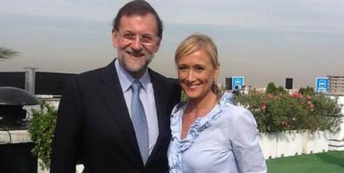 Cristina Cifuentes junto al Presidente del PP, Mariano Rajoy