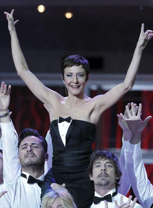 FOTOGALERIA: Premios Goya: Eva Hache, en el musical que ha abierto la gala