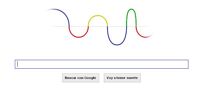 Doodle de Google en homenaje a Hertz