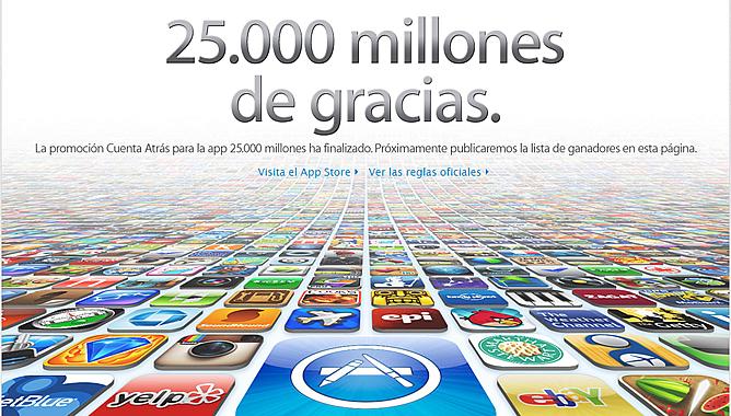 Así celebra Apple las 25.000 millones de aplicaciones descargadas