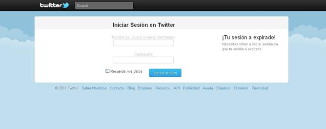 Un link acortado conducía a esta interface, casi idéntica a la de Twitter, donde los usuarios engañados metían sus datos