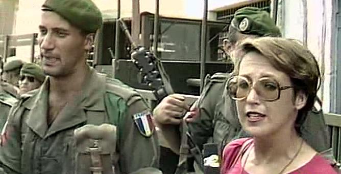 Rosa María Calaf, durante su etapa como corresponsal en Televisión Española