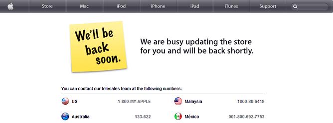 La tienda 'online' de Apple, cerrada antes de la presentación del nuevo iPad