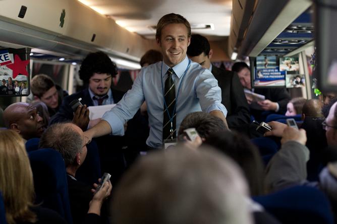 Ryan Gosling, en un fotograma de la película 'Los idus de marzo'