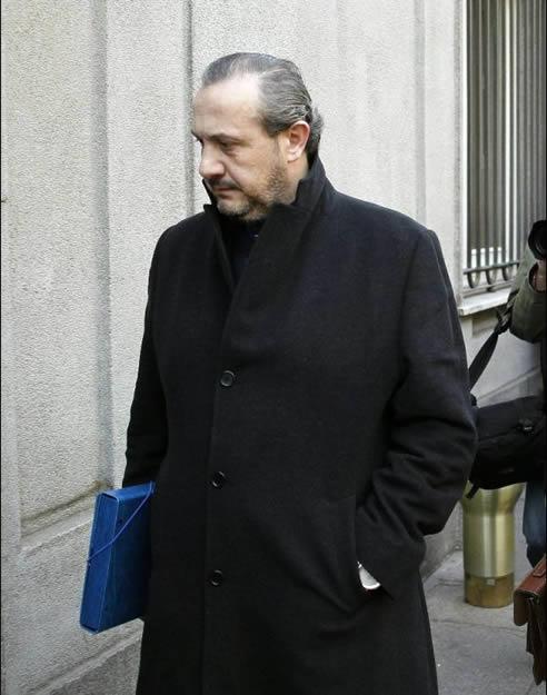 El empresario farmacéutico Jorge Dorribo a su llegada al Tribunal Supremo para declarar ante el magistrado el pasado 21 de febrero