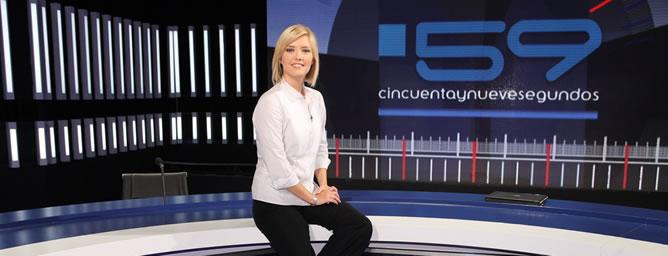 María Casado, presentadora del programa de debates '59 segundos'