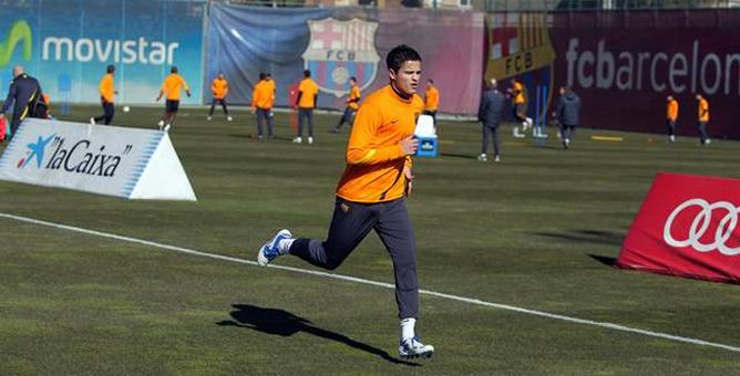 Ibrahim Afellay durante el entrenamiento