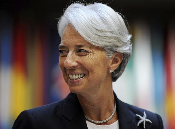 La directora general del Fondo Monetario Internacional, Christine Lagarde (EFE)