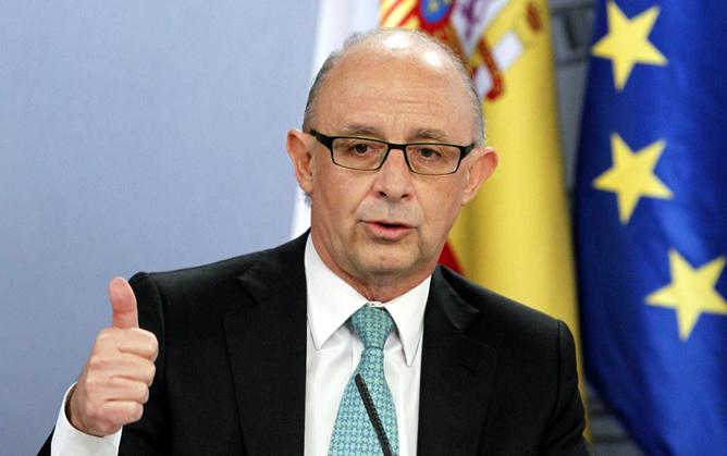 Cristóbal Montoro, durante la rueda de prensa del Consejo de Ministros