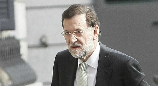 Rajoy, a su llegada al Congreso el pasado jueves