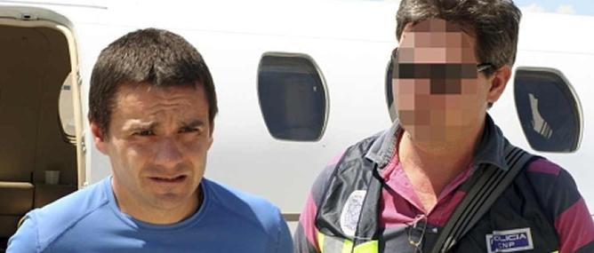 Aitzol Gogorza cuando fue extraditado a España