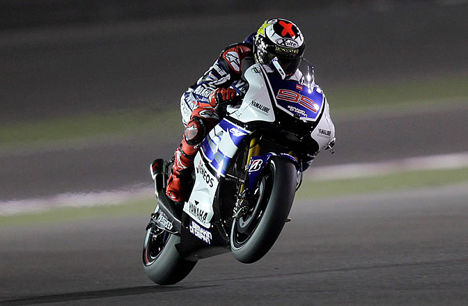 Jorge Lorenzo rueda en Doha