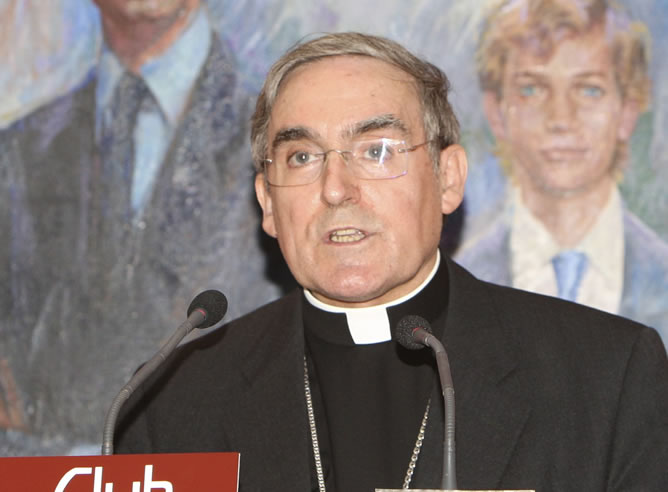 El cardenal y arzobispo de Barcelona, Lluis Martínez Sistach