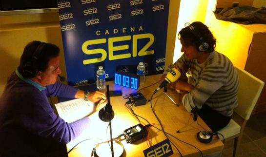 FOTOGALERIA: Rafa Nadal y José Ramón de la Morena conversan en 'El Larguero'