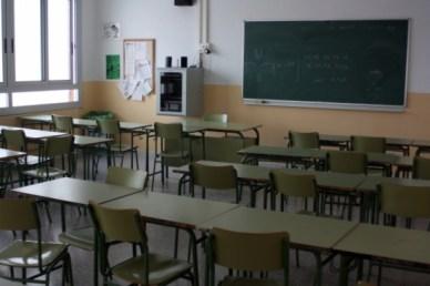 Imatge de l'aula d'una escola