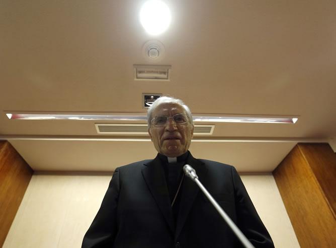 El presidente de la Conferencia Episcopal, Antonio María Rouco Varela, durante su discurso inaugural de la Asamblea Plenaria de la Conferencia Episcopal Española