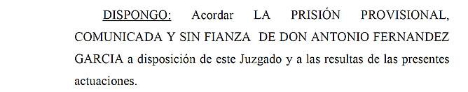 """La jueza acusa al exconsejero andaluz Antonio Fernández de """"empobrecer a los andaluces"""""""