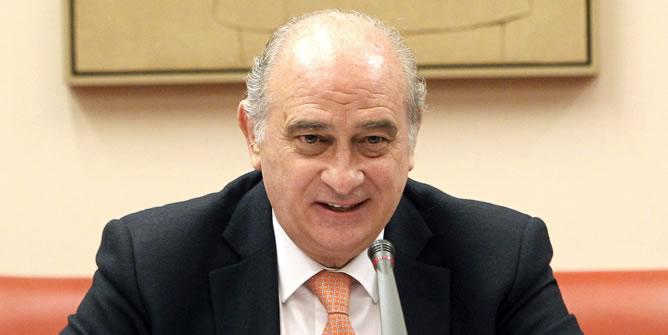 Fernández Díaz, durante su comparecencia esta tarde en la Comisión de Interior