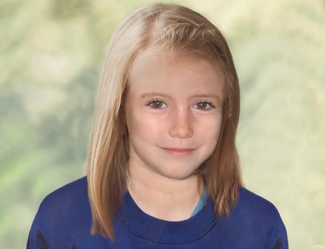 Así se vería en la actualidad Madeleine McCann, la fotografía fue presentada por Scotland Yard, que cree que la niña desaparecida hace cinco años sigue viva