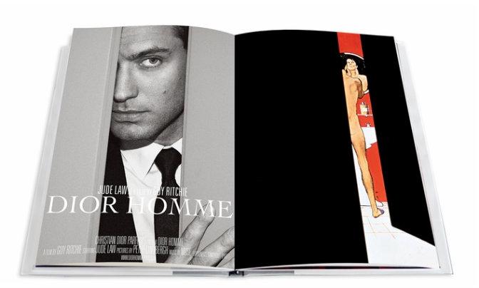 Jude Law en el interior del nuevo libro de Dior