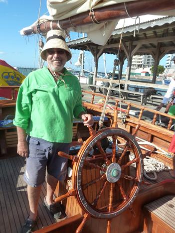 Pedro de Armas, a bordo de su barco