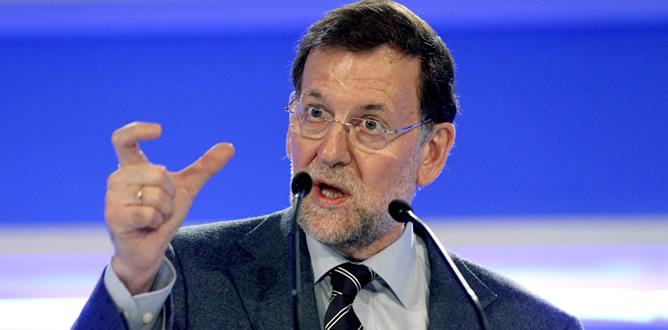 Mariano Rajoy durante su intervención en la clausura del XIII Congreso del PP regional en el País Vasco
