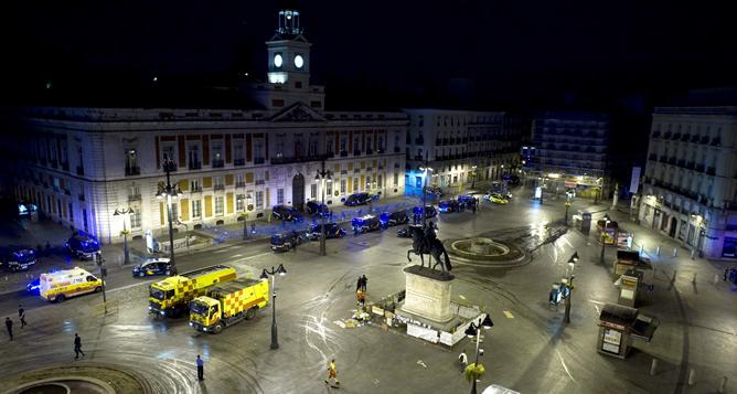 el ayuntamiento de madrid volver a reformar la puerta del On donde esta la puerta del sol