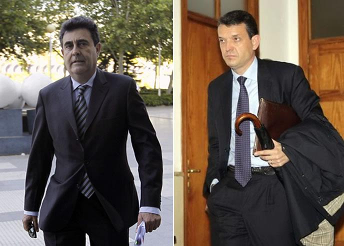 El secretario autonómico de Turismo de la Generalitat Valenciana, Luis Lobón, y el director del Instituto Valenciano de Finanzas, Jorge Vela