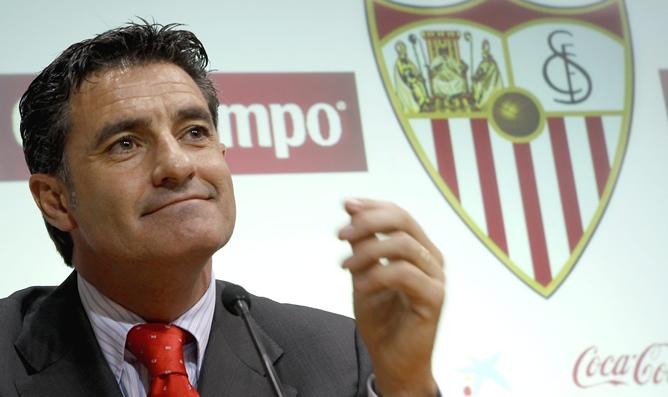 El técnico José Miguel González 'Michel' durante su presentación como nuevo entrenador del Sevilla
