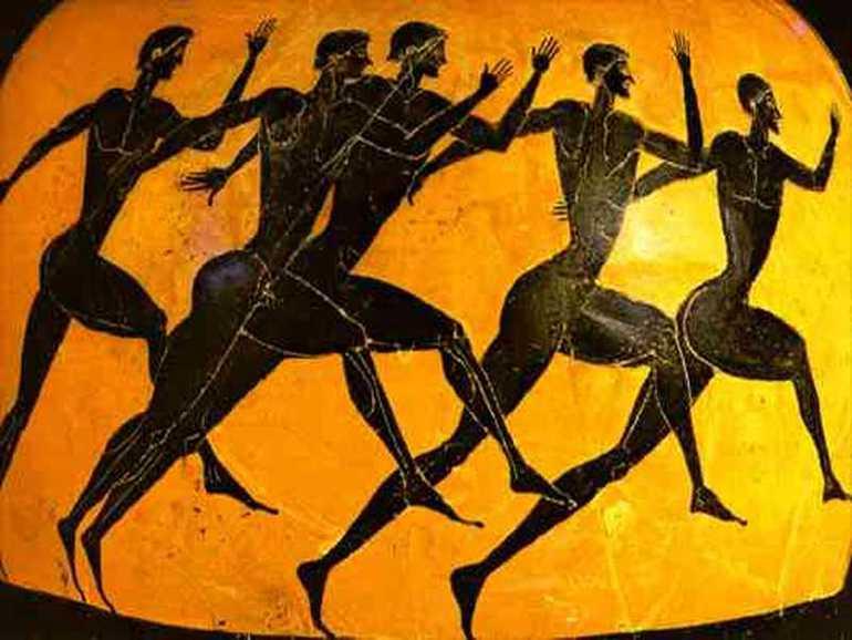 Imágen de los Juegos Olímpicos plasmada en cerámica.