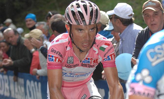 El español Joaquim 'Purito' Rodríguez (Katusha) durante la decimonovena etapa del Giro de Italia, disputada entre Treviso y Alpe di Pampeago, de 198 kilómetros, el viernes, 25 de mayo de 2012.