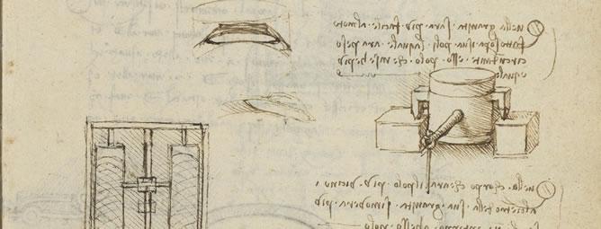 Una de las páginas separadas de uno de los dos códices manuscritos de Leonardo Da Vinci que posee en su colección