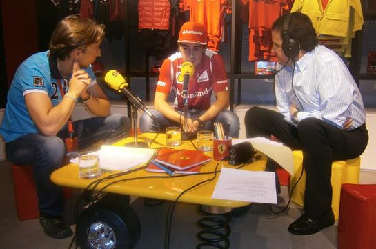 FOTOGALERIA: José Ramón de la Morena y David Alonso conversan con Fernando Alonso en 'El Larguero'