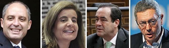 Francisco Camps, Fátima Báñez José Bono y Alberto Ruiz Gallardón son algunos de los políticos que han  elevan sus plegarias al cielo para conseguir una ayuda extraterrenal que solucione los problemas de España