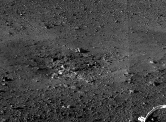 Una de las instantáneas en alta resolución enviadas por el Curiosity desde Marte