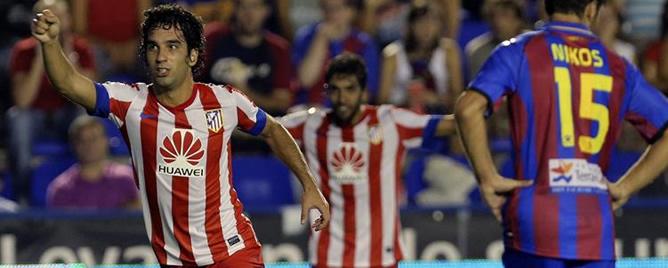 El turco ha marcado el tanto del empate para el Atlético en el Ciutat de Valencia