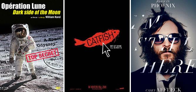 Carteles promocionales de 'Operación Luna', 'Catfish' y 'I'm still here'