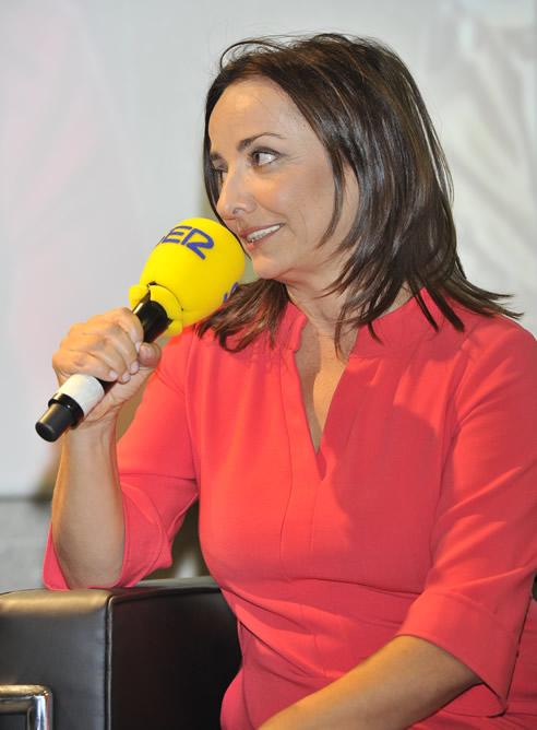 Pepa Bueno, durante la presentación de la nueva temporada de Cadena SER, en la que dirigirá - junto a Gemma Nierga - 'Hoy por Hoy'