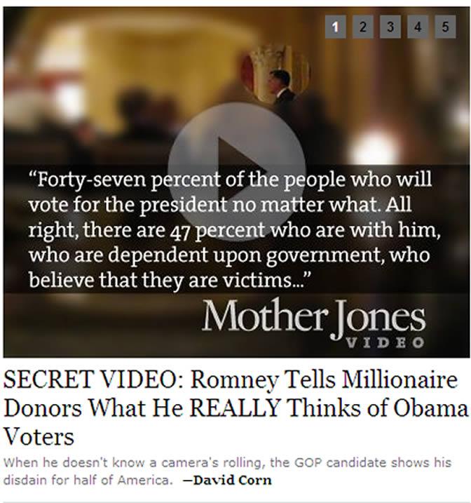 Captura de pantalla de la página web Mother Jones que ha desvelado este vídeo