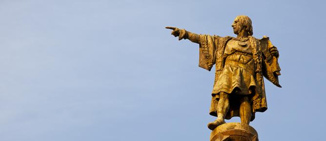 Imagen del monumento a Colón en Barcelona.