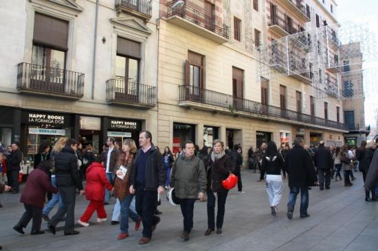Imatge d'arxiu del Portal de l'Angel de Barcelona