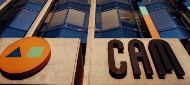 Fachada de la sede central de la CAM