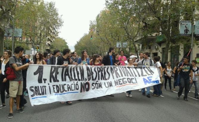 Jornada de protesta a les universitats per la política educativa dels governs espanyol i català