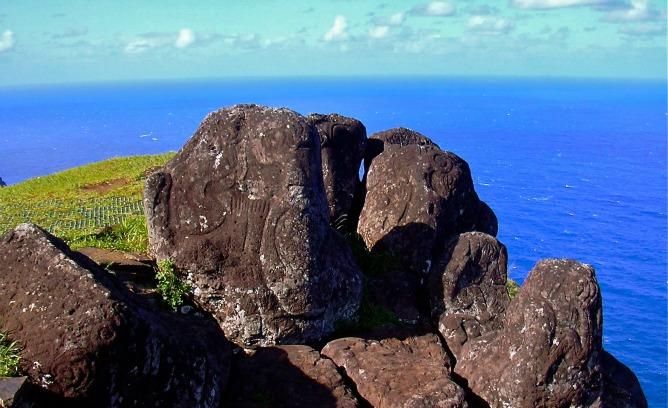 Petroglifo en Mata Ngarau Orongo